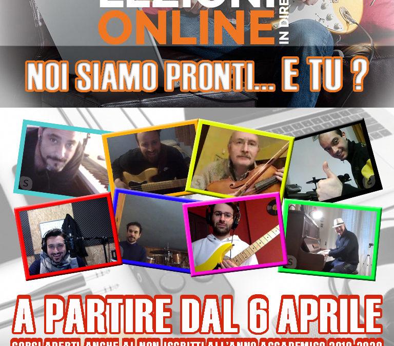 PARTONO LE LEZIONI ONLINE !!!